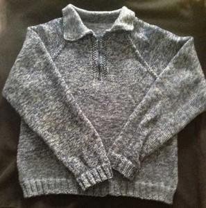 Circular needle Men's Sweater