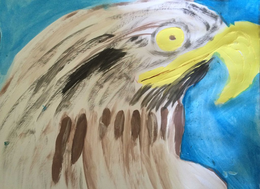 Original Watercolour Painting – an Eagle